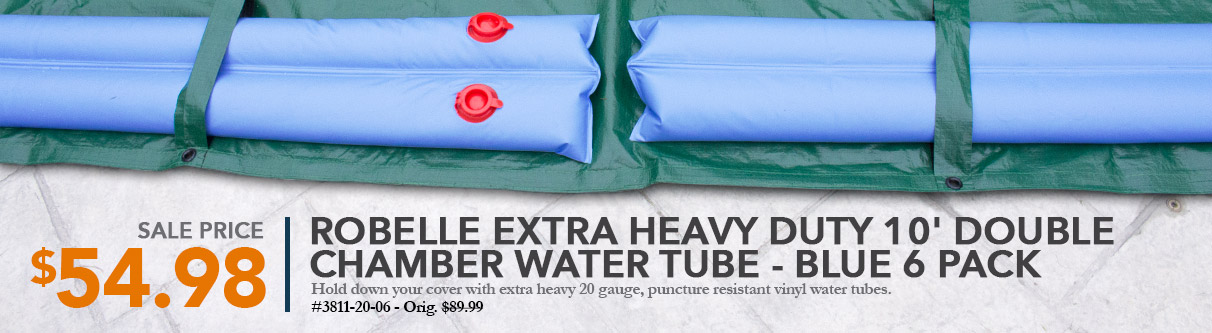 Robelle Extra Heavy Duty 10ft Double Chamber Water Tube - Blue 6 Pack