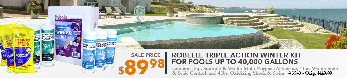 Robelle Triple Action Winter Kit for pools up to 40,000 gallons