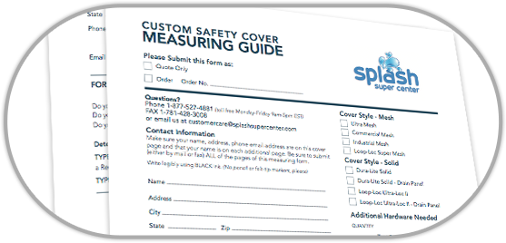 Safety Pool Cover Measuring Guide