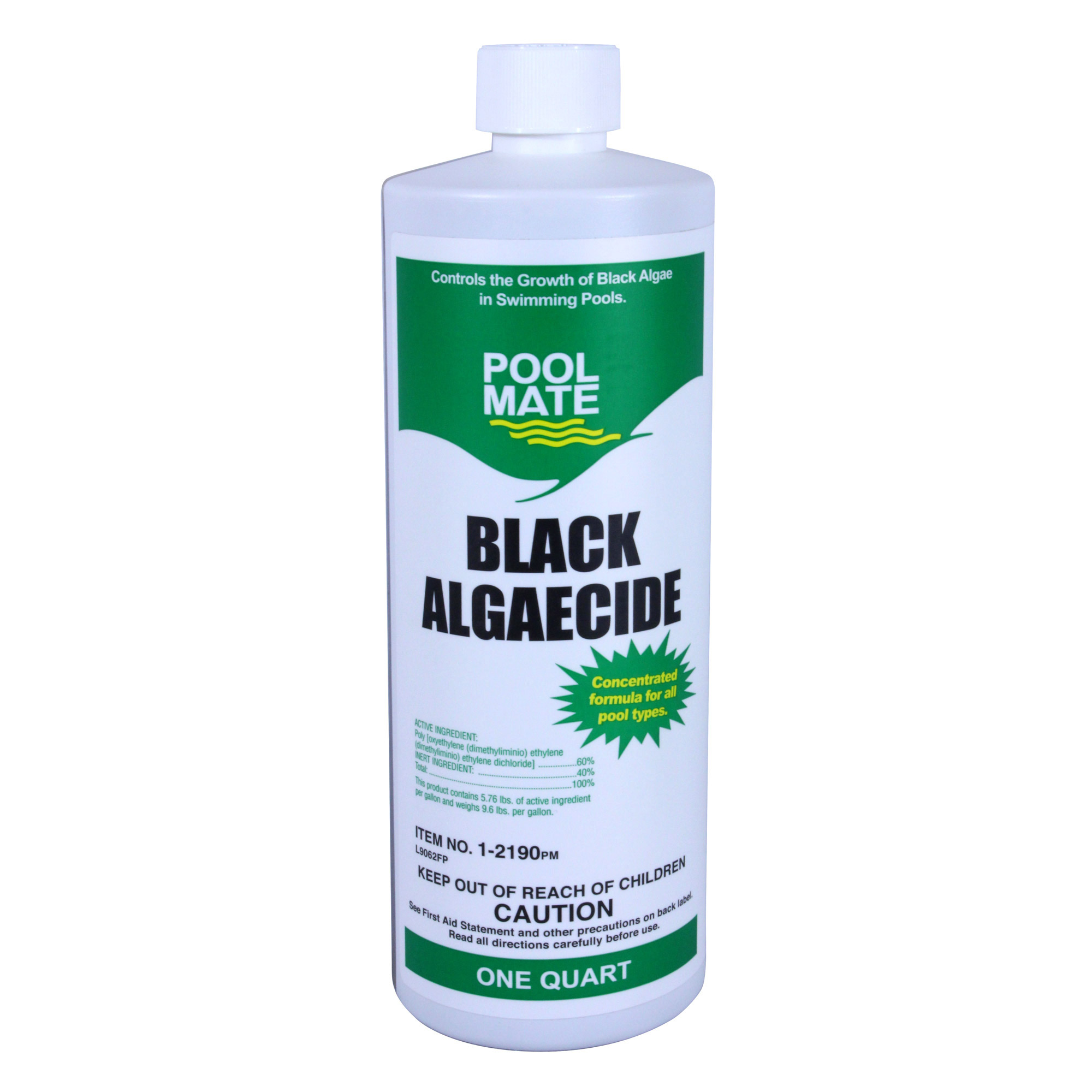 Pool mate black algae swimming pool non foaming non metallic algaecide 60 4 qt ebay for Using algaecide in swimming pool