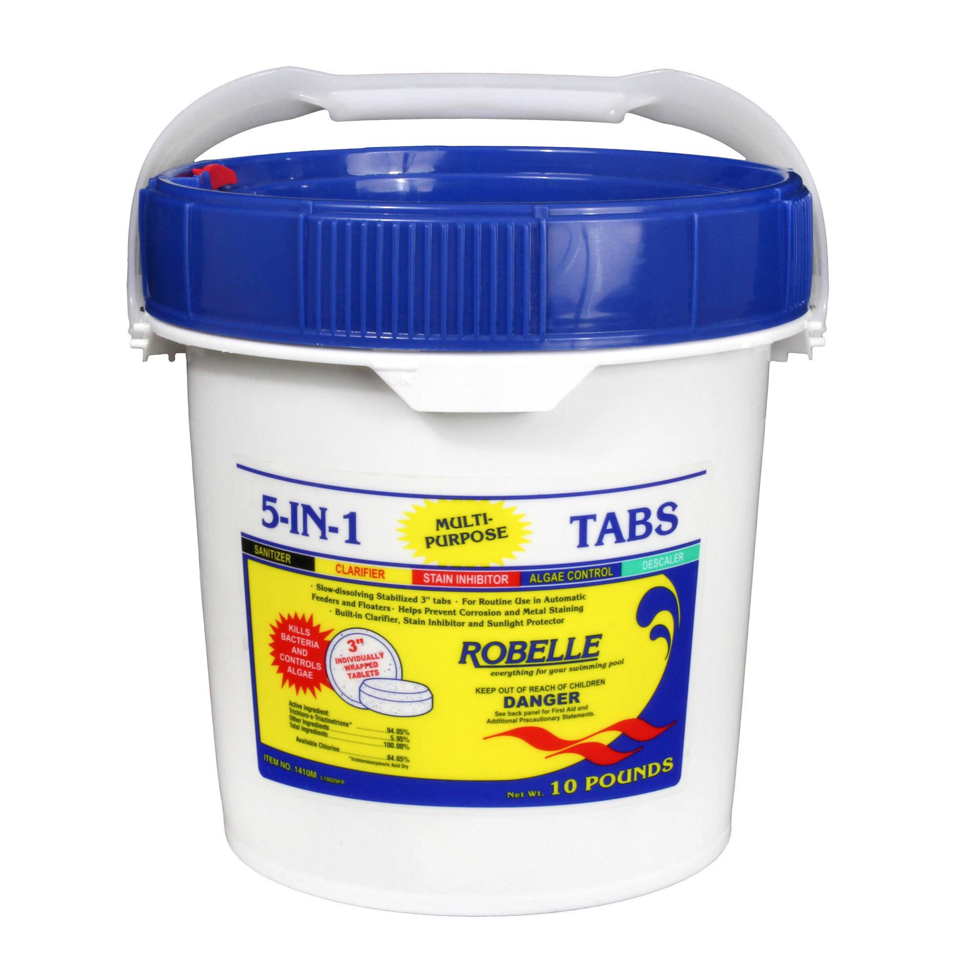 Robelle 5-in-1 Tabs - 40 Lbs | Pool Chemicals | Pool Supplies