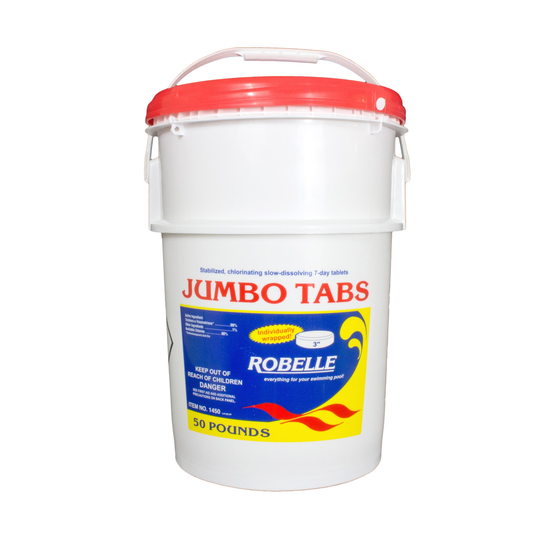 Robelle Chlorine 3 Jumbo Tabs Swimming Pool Sanitizer Chemical 50 Lbs Ebay
