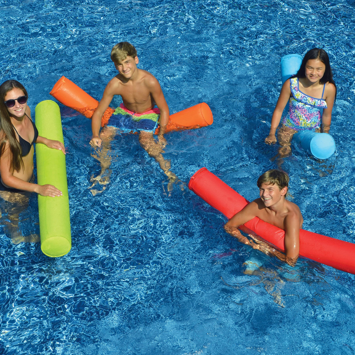 Swimline 55 Quot Sunsoft Fabric Covered Swimming Pool Doodle Float Noodle Blue Ebay