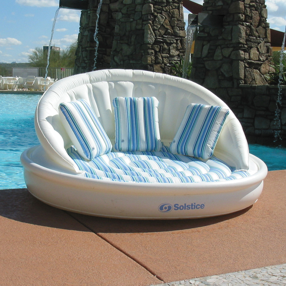 "Solstice Swimming Pool Lake 81/"" Giant Aqua Sofa Lounge Float"