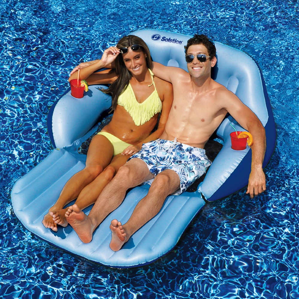 Solstice 72 Quot L X 60 Quot W Swimming Pool Lake Duo Love Seat