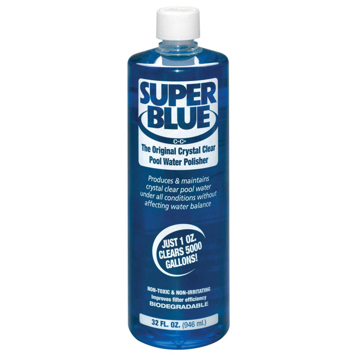 Robarb Super Blue 1 Quart Pool Clarifiers Flocculants Splash Super Center