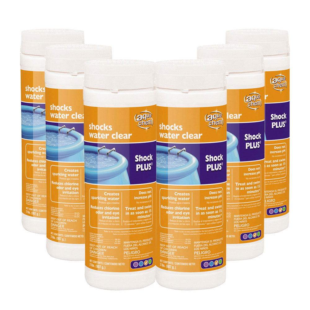 Aqua chem shock plus chemical for small vinyl swimming - How soon can you swim after shocking pool ...