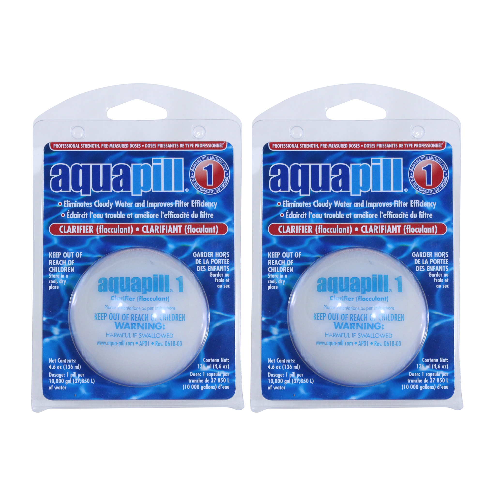 Aqua Pill 1 Swimming Pool Water Clarifier Flocculant Chemical 2 Pack Ebay