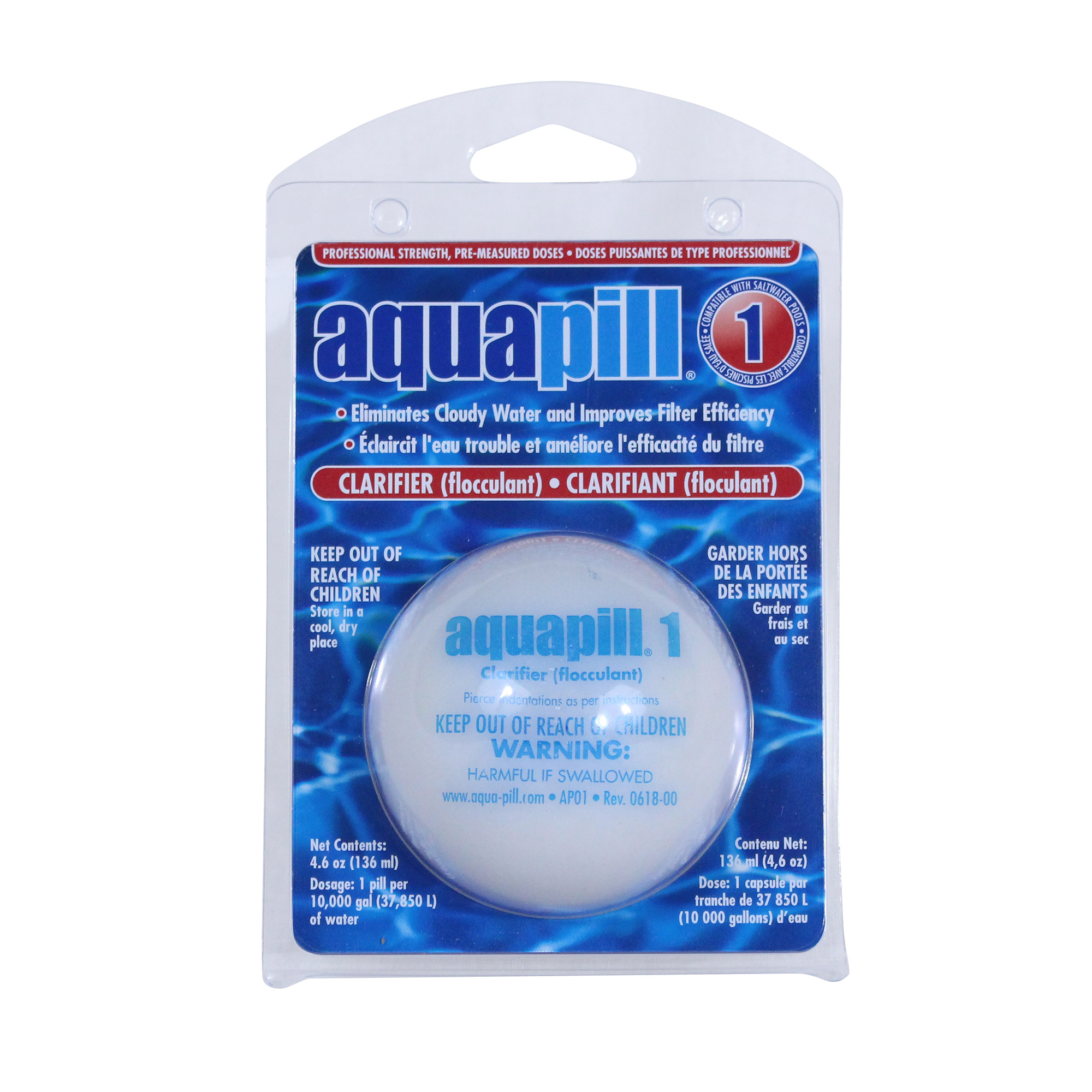 Details about Aqua Pill 1 Swimming Pool Water Clarifier & Flocculant  Chemical