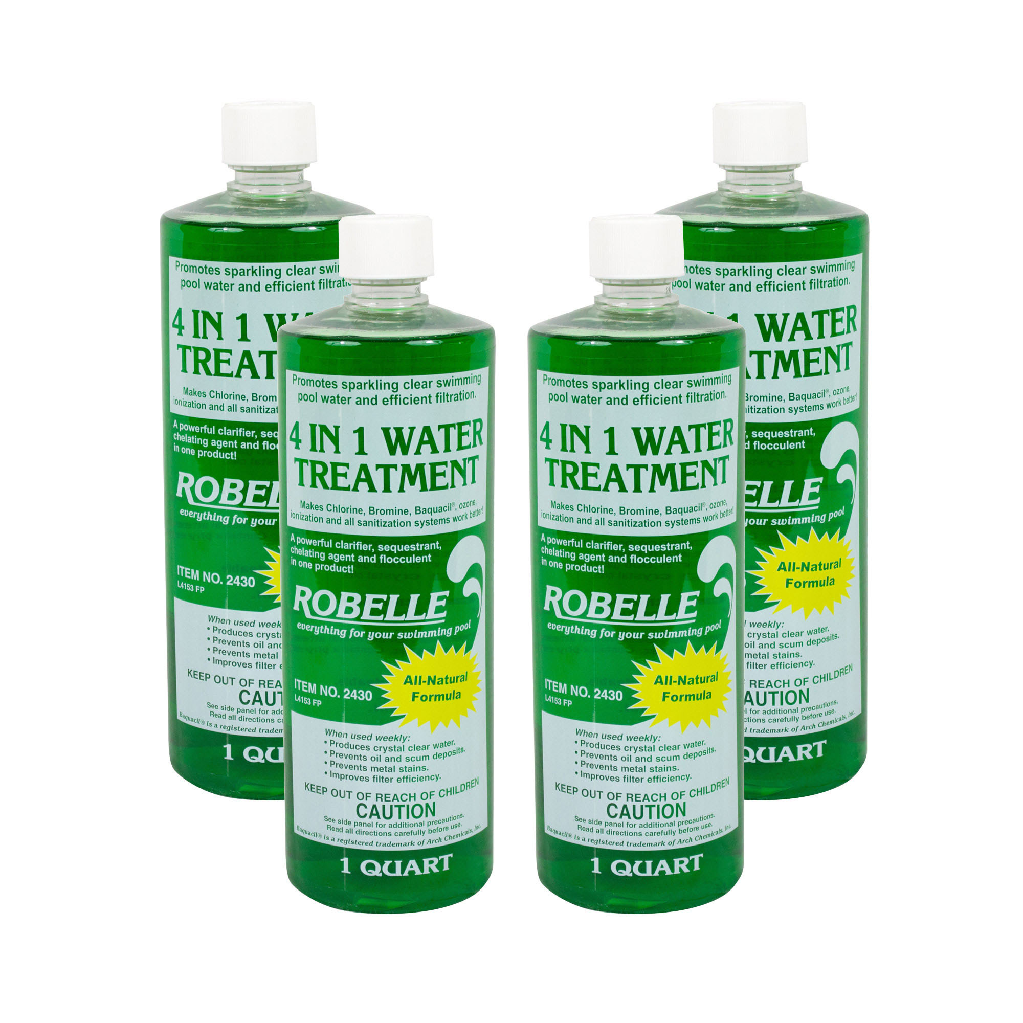 Robelle 4 In 1 Flocculant Clarifier Sequestrant Chelating Swimming Pool 4 Qts Ebay