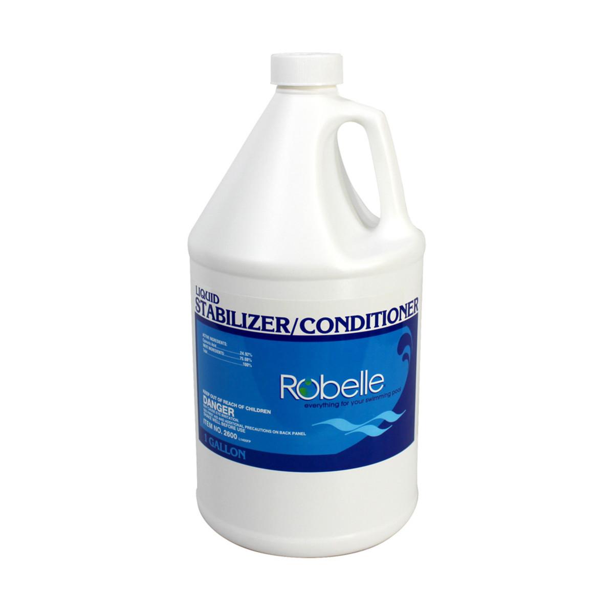 Robelle Liquid Stabilizer Conditioner 1 Gallon Pool Stabilizer Conditioner Splash Super