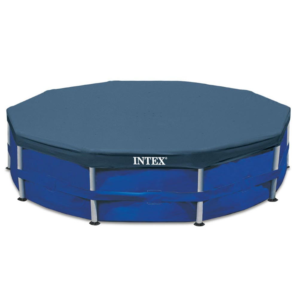 Details about Intex Above Ground Swimming Pool Cover For 15\' Metal Frame  Pool