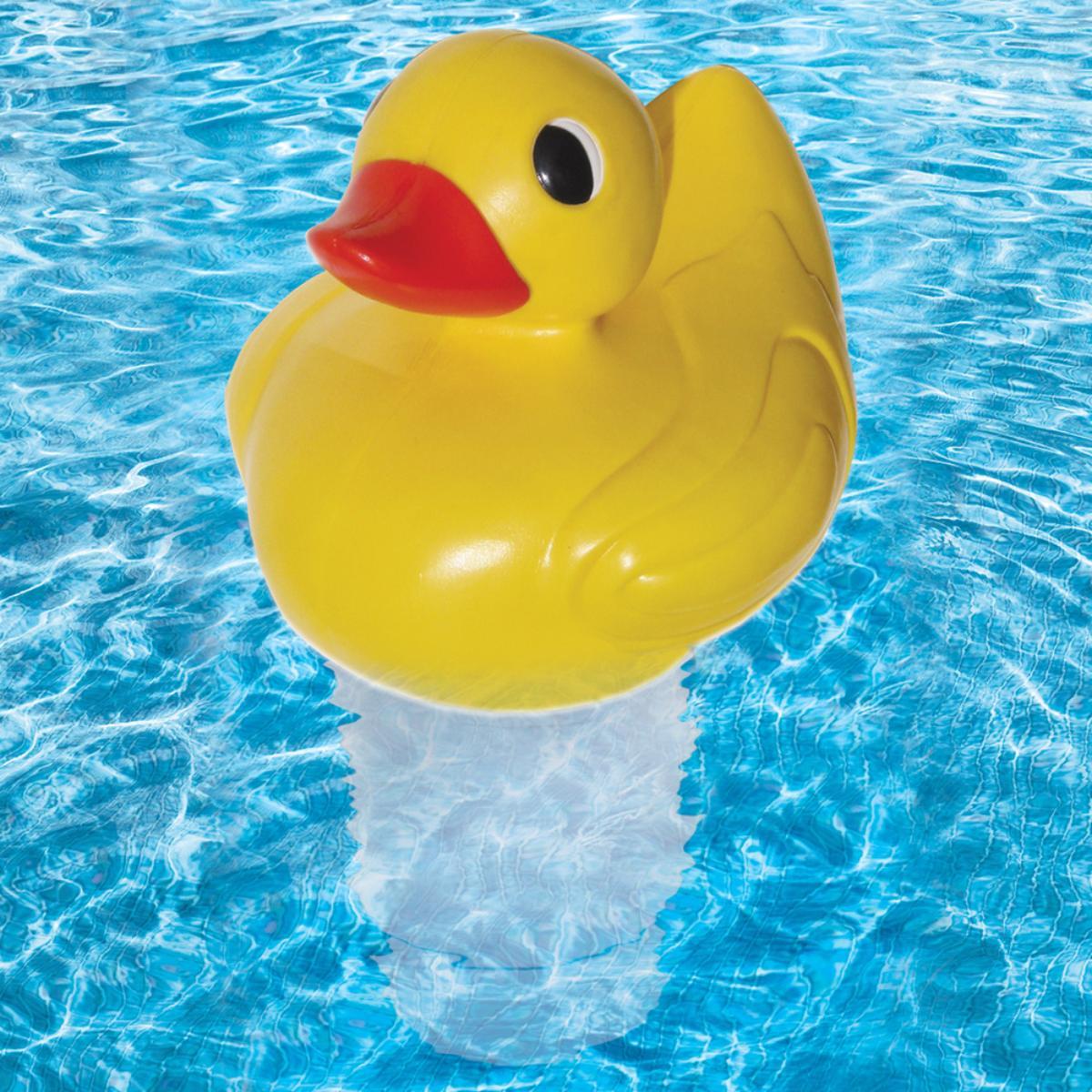 Pool duck chlorine dispenser pool accessories splash - Duck repellent for swimming pools ...