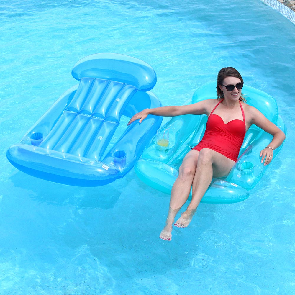 sunsplash sun lounge 59 x 38 swimming pool chair float blue