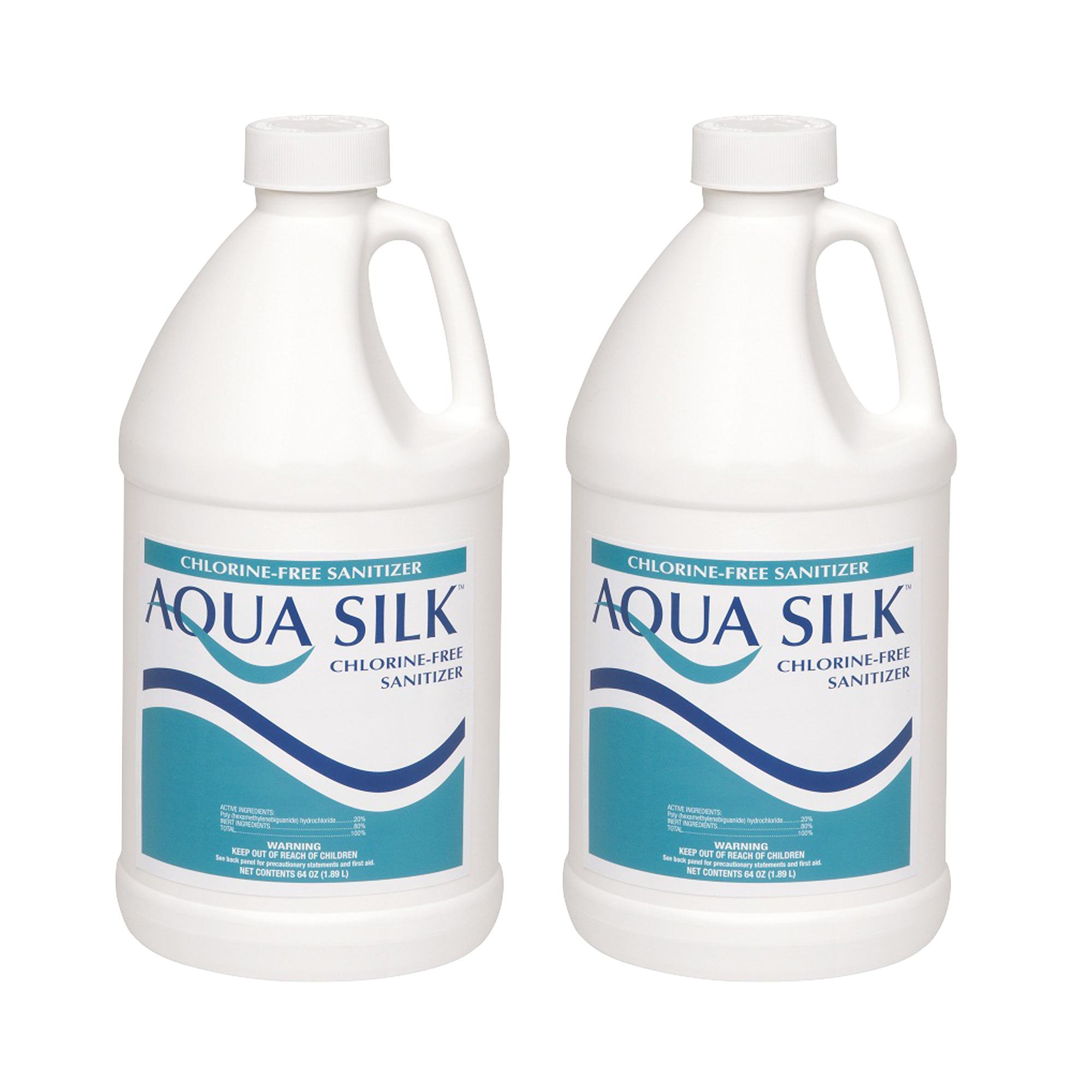 Aqua Silk 1 2 Gallon Chlorine Free Alternative Swimming Pool Sanitizer 2 Pack Ebay