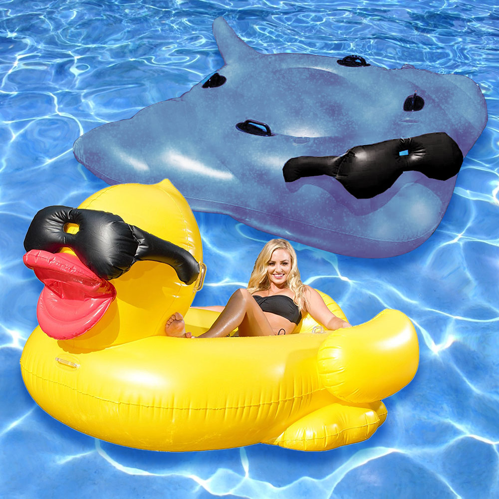 Game Giant Duck Amp Stingray Swimming Pool Inflatable Float