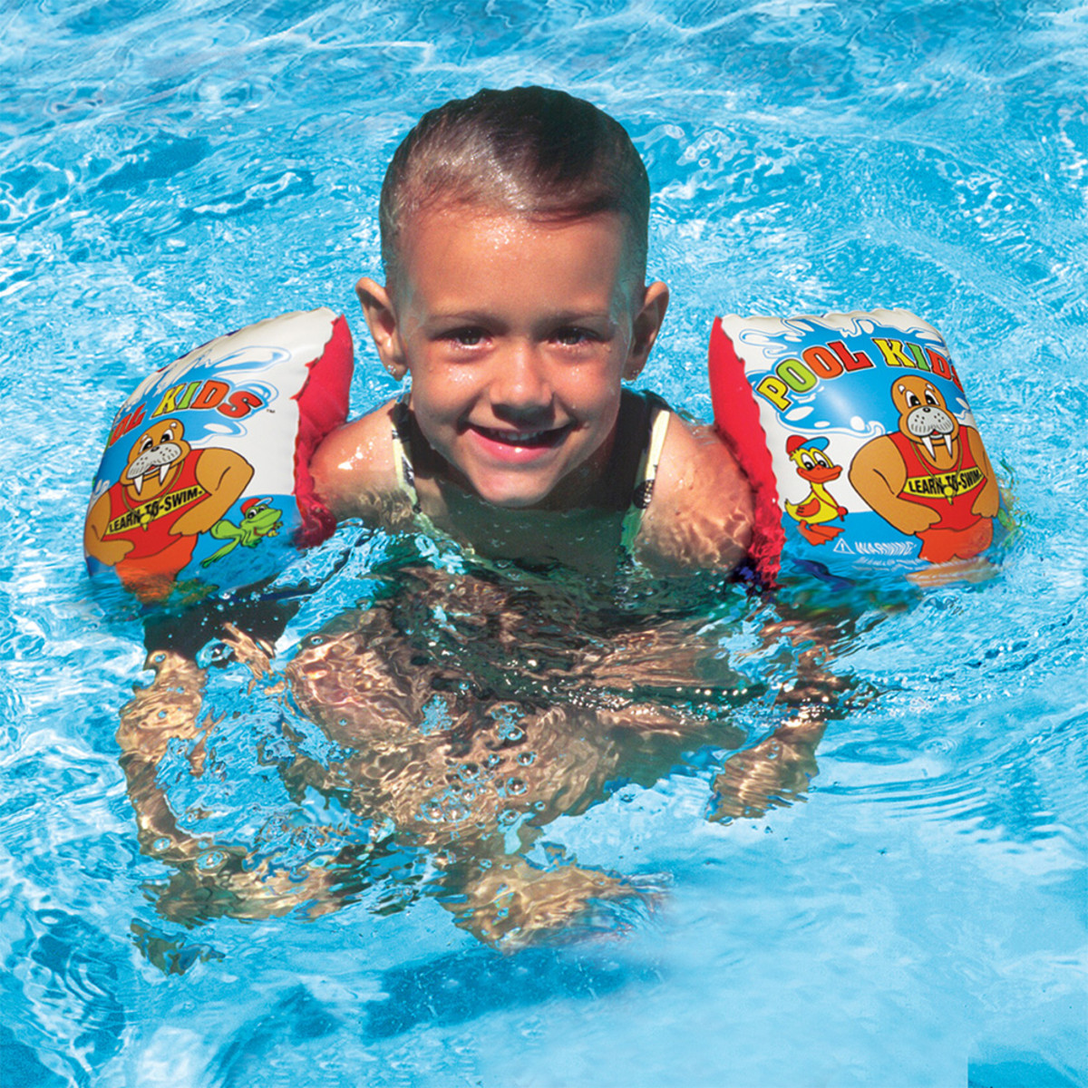 Poolmaster learn to swim arm float 3 pack swim aids for Pack swimming