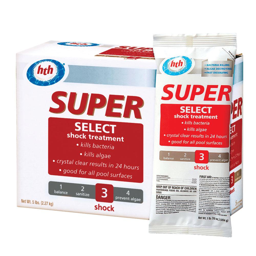 Hth Super Select 56 Calcium Hypochlorite Swimming Pool Shock Treatment 5 Lbs Ebay