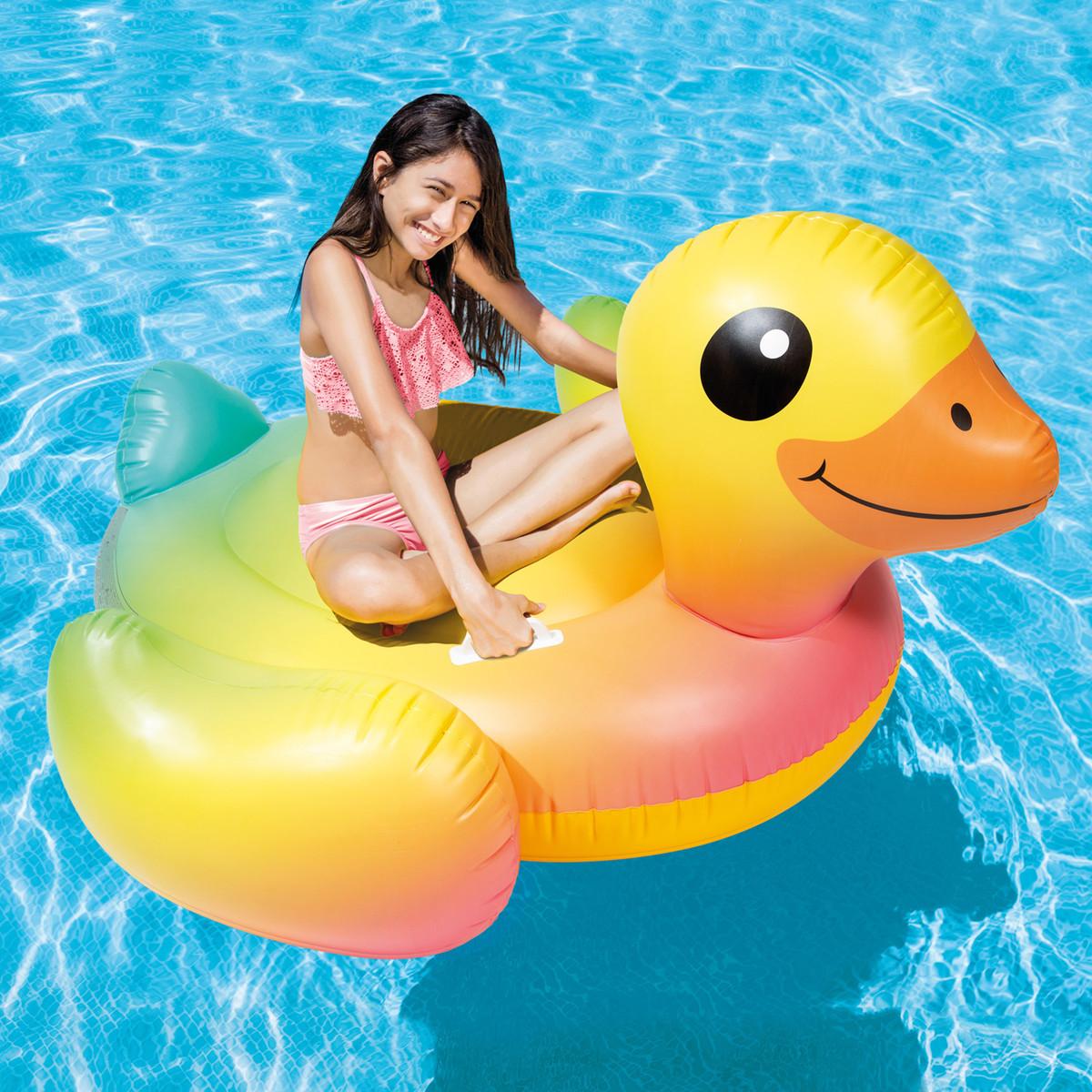 Intex Yellow Duck Ride On Kids Floats Amp Pools Splash