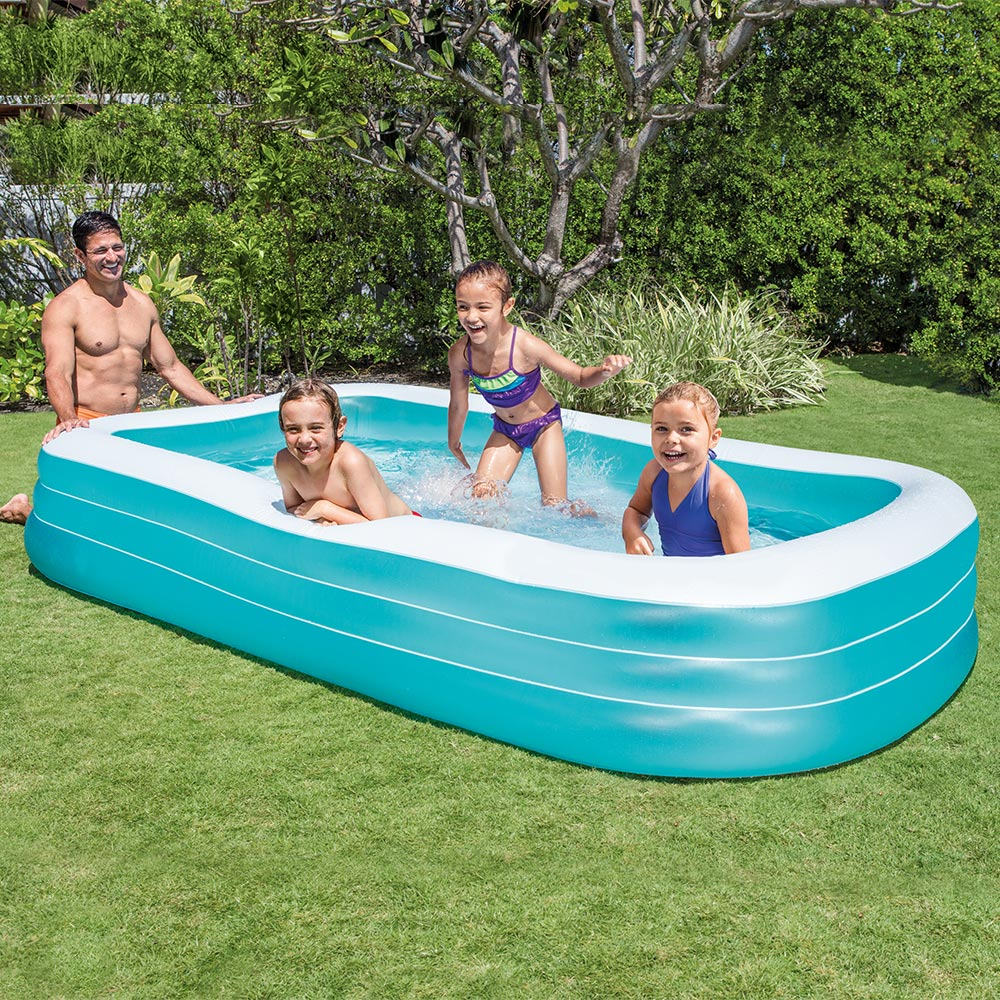 Intex 120 x 72 deluxe swim center family inflatable kiddie swimming pool ebay Intex inflatable swimming pool