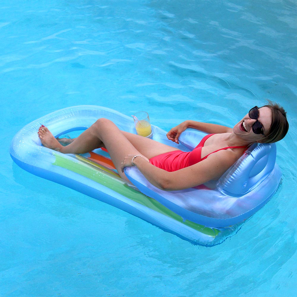 Intex king kool lounge 2 pack lounge chairs splash super center for Intex swim centre family lounge pool cover