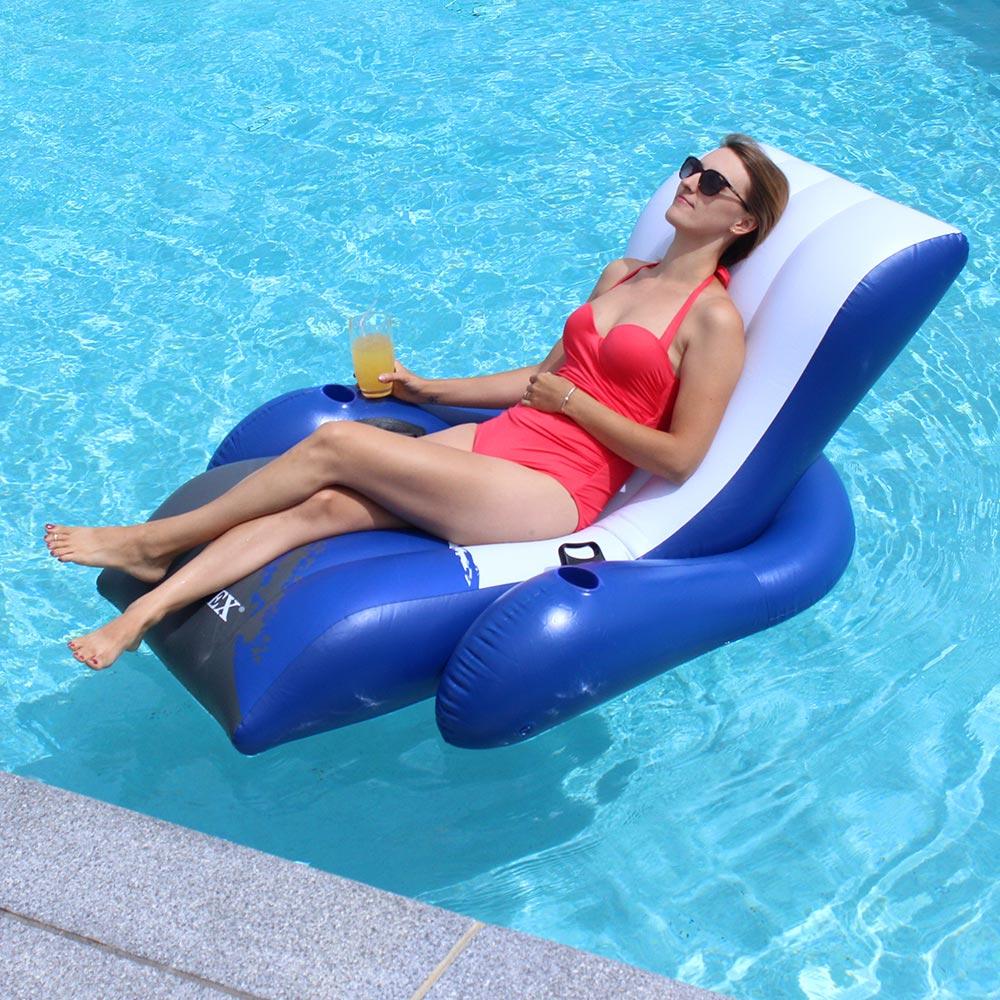 Poolmaster Adjustable Chaise Floating Lounge Inflatable Lounges Splash Super Center