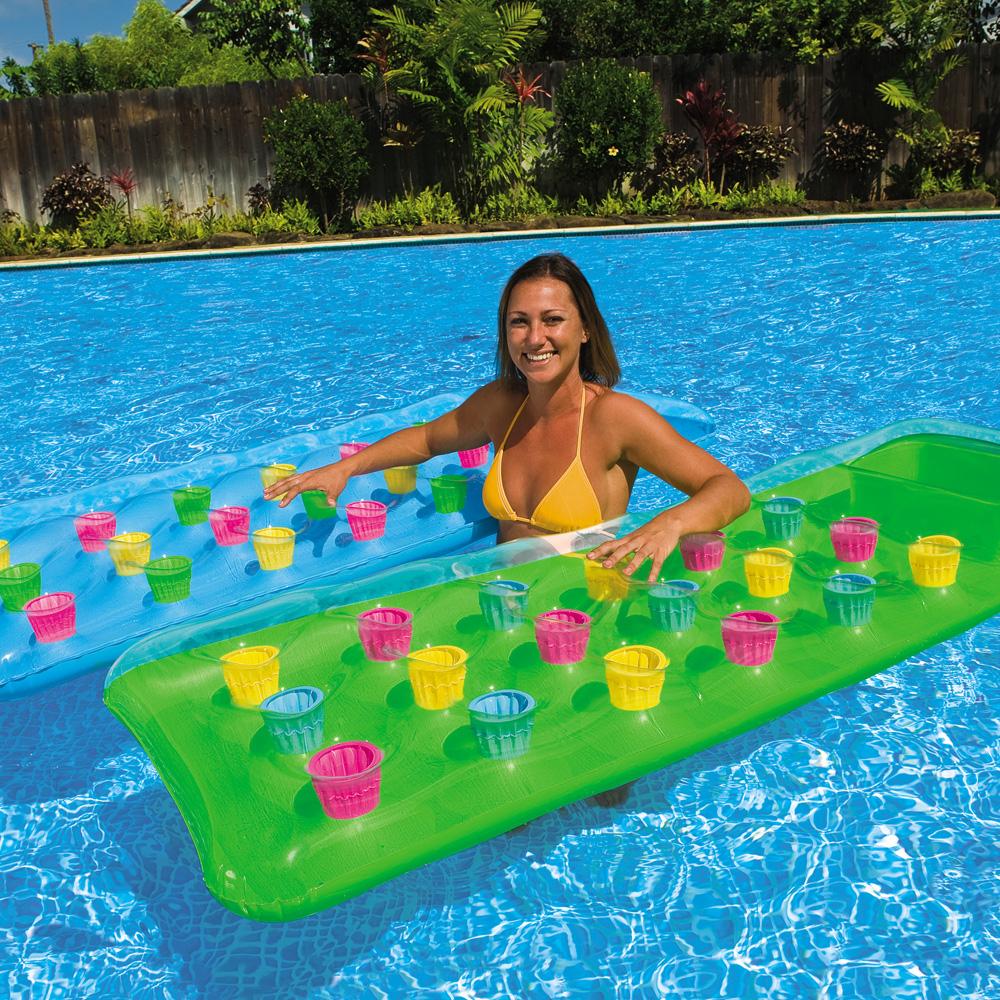 Intex 18 Pocket Suntanner Mattress Swimming Pool Inflatable Float Green Ebay