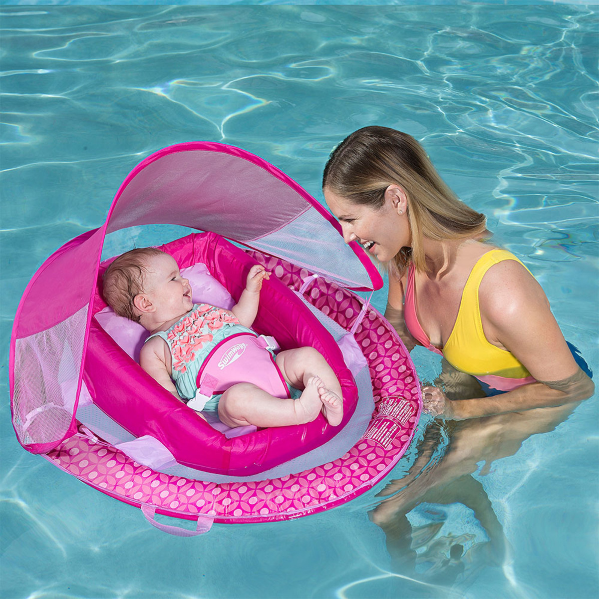 Swimways Baby Infant Spring Float Canopy - Pink | Kids ...