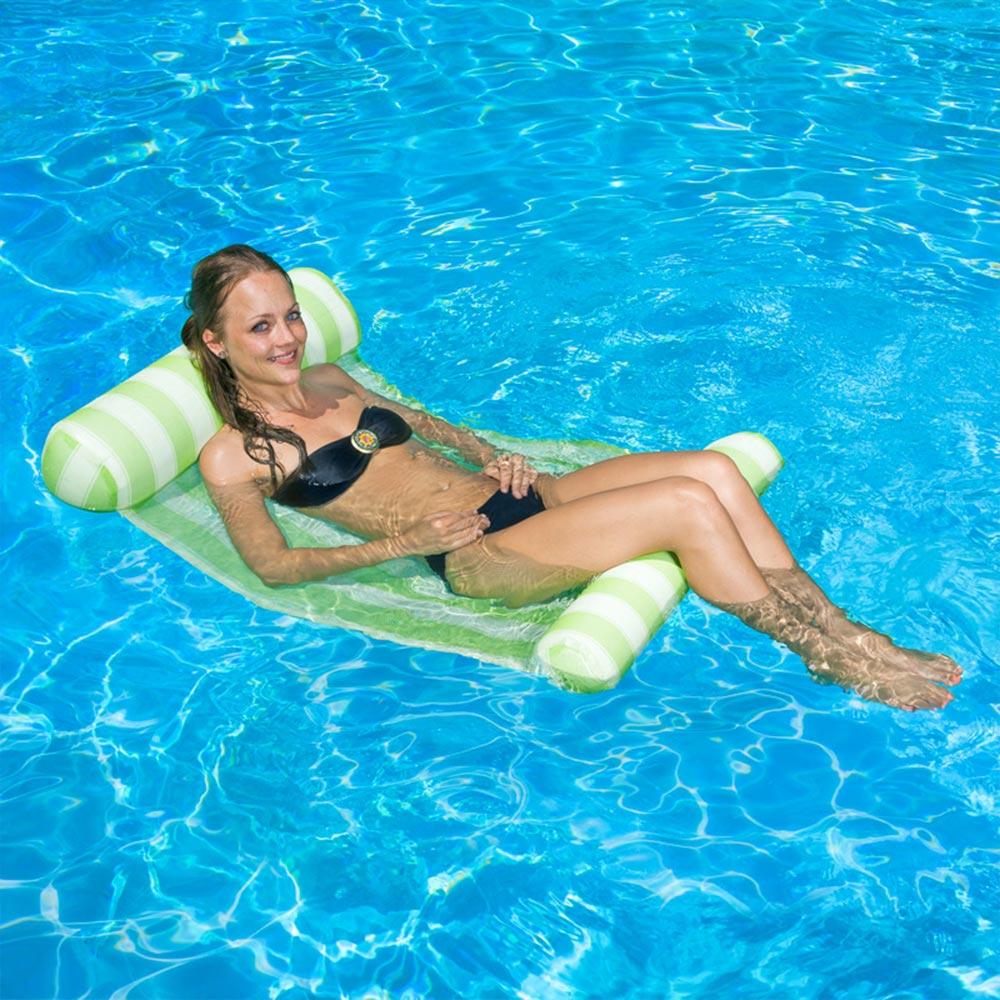 Details About Poolmaster 51 75 L X 26 W Swimming Pool Lake Hammock Water Lounger Green