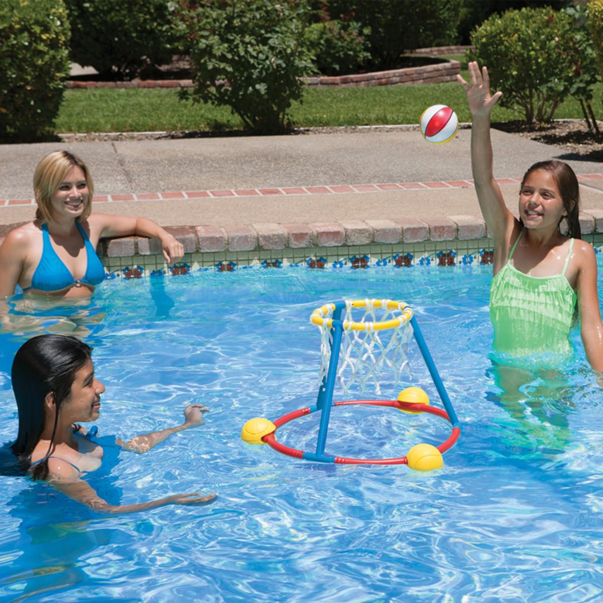 Poolmaster Hot Hoops Floating Basketball Game Pool