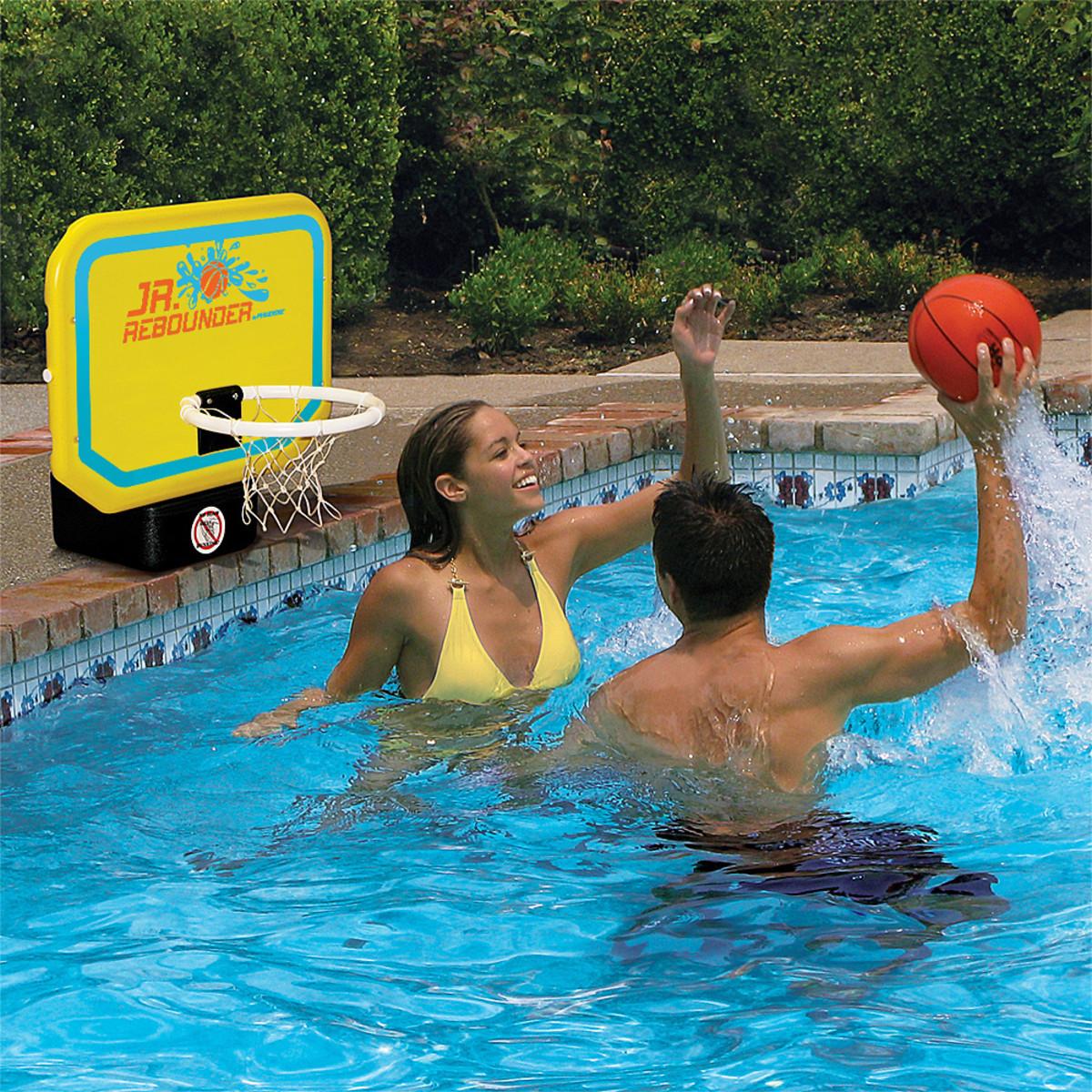 Poolmaster junior pro poolside basketball game pool sports games splash super center - Pool basketball ...