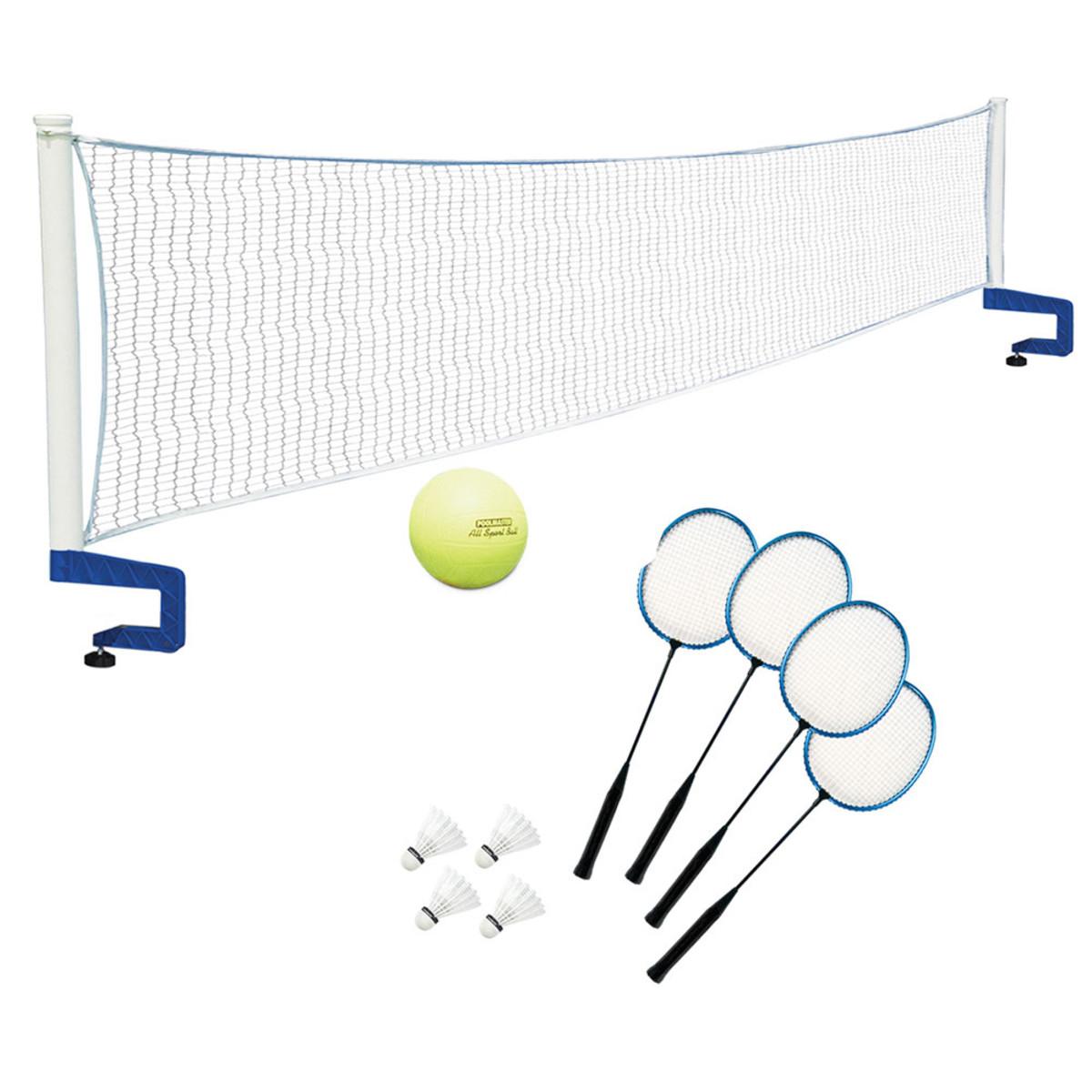Poolmaster Badminton Amp Volleyball Game Combo Splash