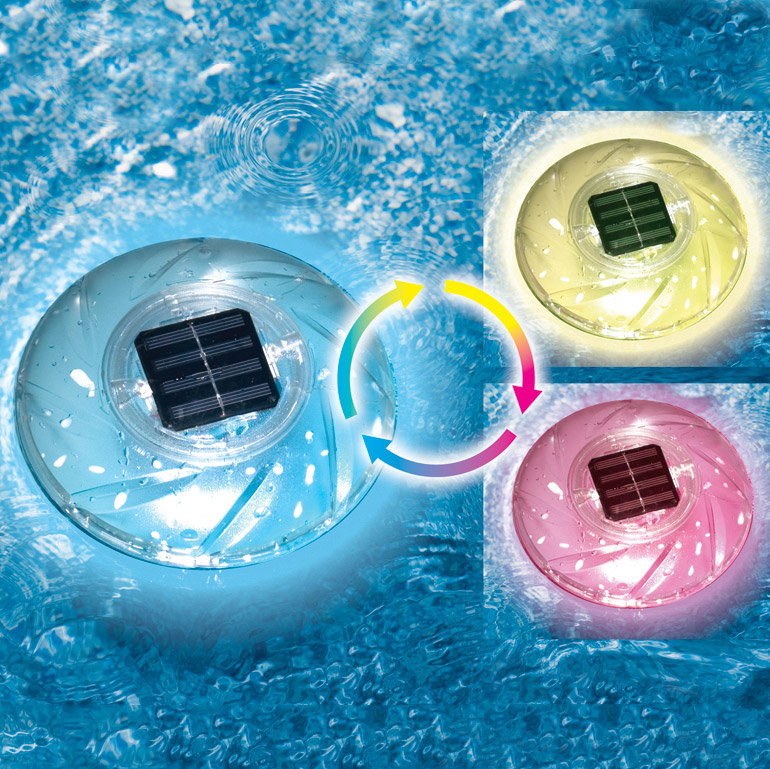 Swimline Color Changing Floating Swimming Pool Solar