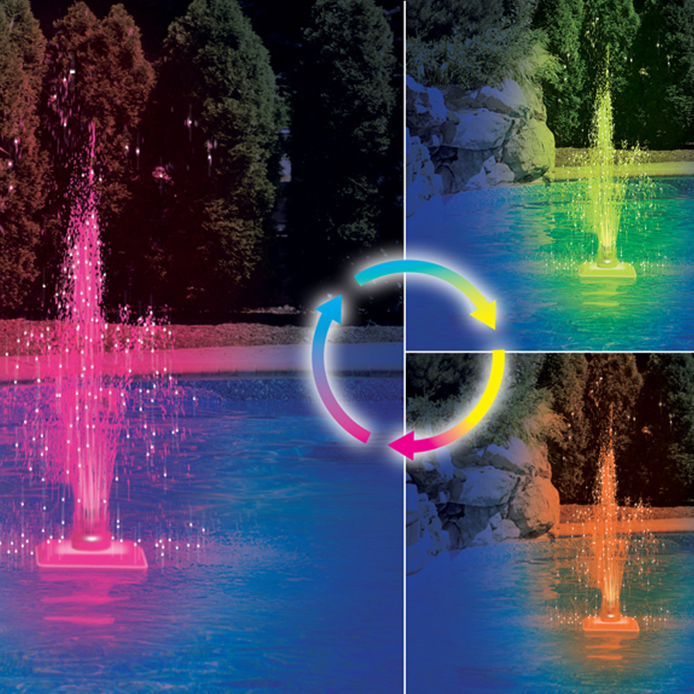 Swimline Swimming Pool Color Changing Led Fountain Water Feature Ebay