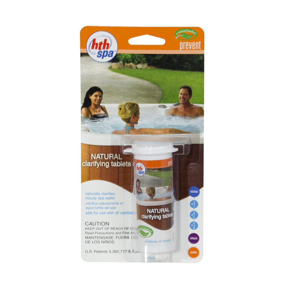 Hth Spa Amp Hot Tub Natural Clarifier Tablets 8 Tablets