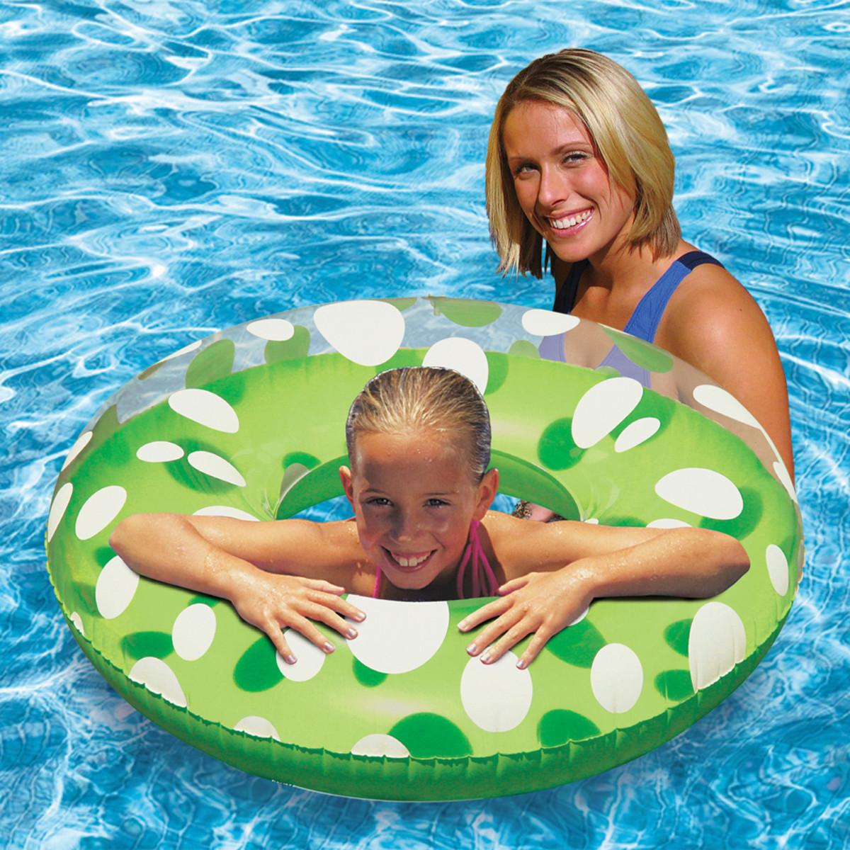 Poolmaster Polka Dot 36 Quot Swim Tube Green Splash Super