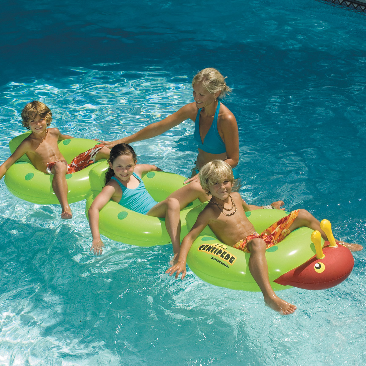 Swimline 88 centipede multi person swimming pool - Can you over shock a swimming pool ...