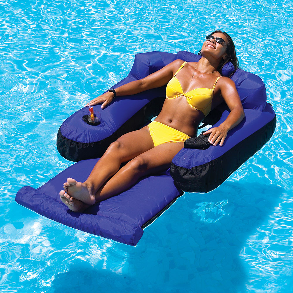 Swimline Single Adjustable Lounger Pool Floats Splash