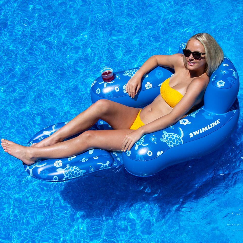 Details about Swimline Tropical Swimming Pool Floating Chair 2 Pack