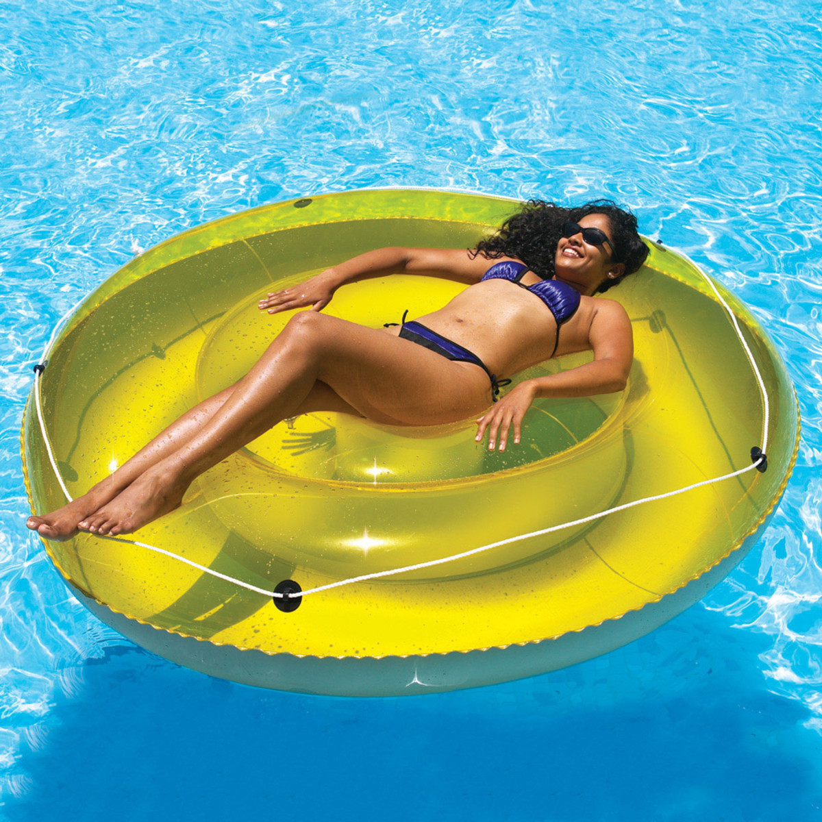 Swimline island lounger inflatable lounges splash super center for Intex swim centre family lounge pool cover