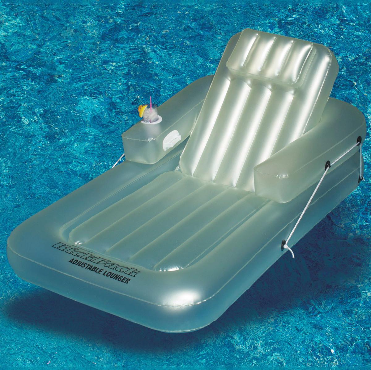 swimline single adjustable lounger inflatable lounges splash super center. Black Bedroom Furniture Sets. Home Design Ideas