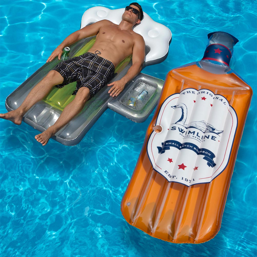 Details about Swimline The Bourbon and Beer Mug Swimming Pool Floats Combo  Pack