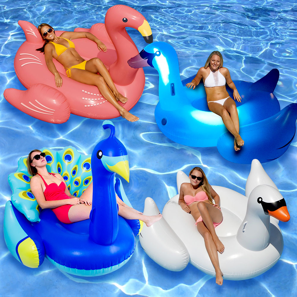 Swimline Giant Inflatable Swan Pool Float Pools & Spas Floats & Rafts