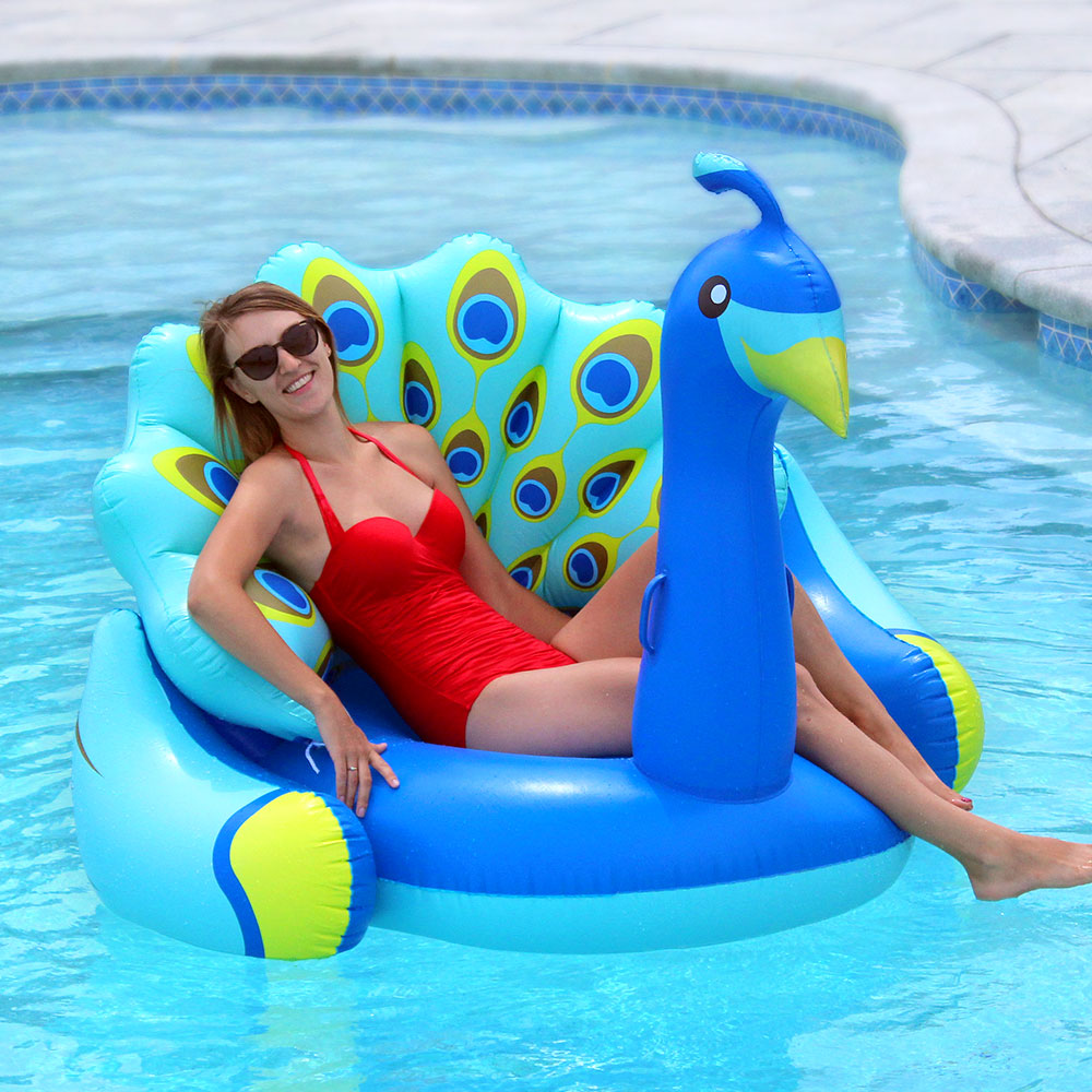 Swimline giant peacock lounger swimming pool inflatable for Huge inflatable swimming pool
