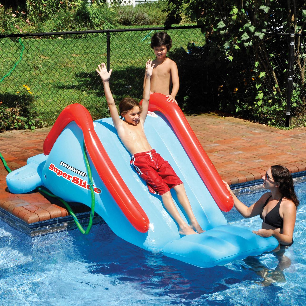 Swimline Superslide Swimming Pool Inflatable 94 X 37 Slide Ebay