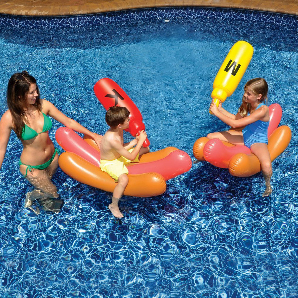 Hot Dog Bun Pool Float