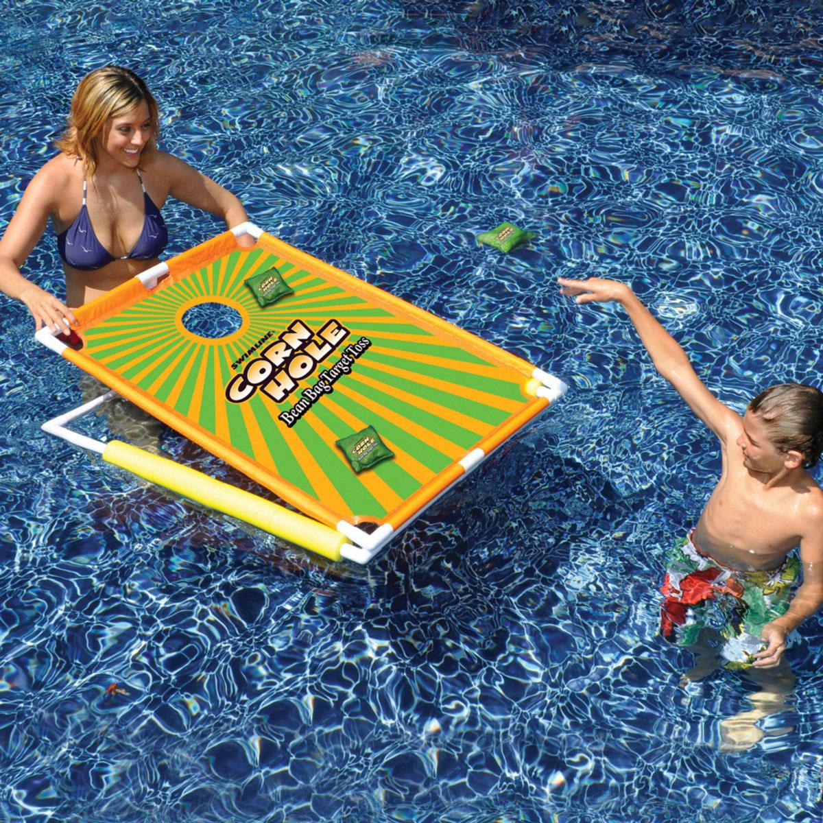 Swimline Corn Hole Bean Bag Target Toss Swimming Pool Game